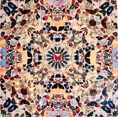 Damien Hirst Damien Hirst Butterfly Kaleidoscope Wallpaper