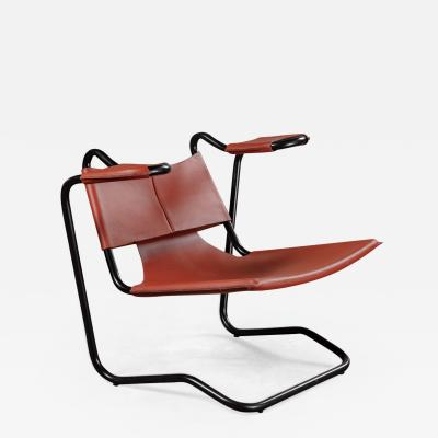 Dan Johnson DAN JOHNSON LEATHER SLING CHAIR