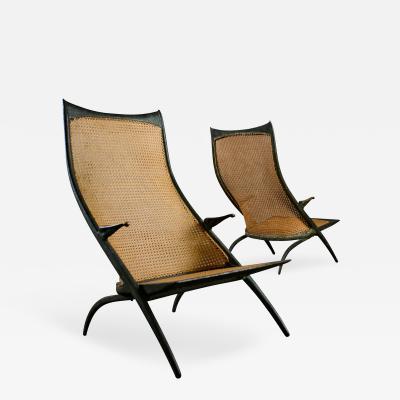 Dan Johnson Pair of Dan Johnson Gazelle Lounge Chairs