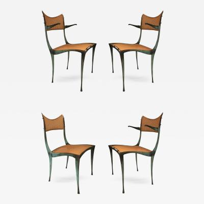 Dan Johnson Set of 4 Gazelle Dining Chairs Model 20B 10B by Dan Johnson