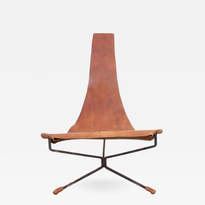 Dan Wenger Early Dan Wenger Lotus Lounge Chair in Original Leather
