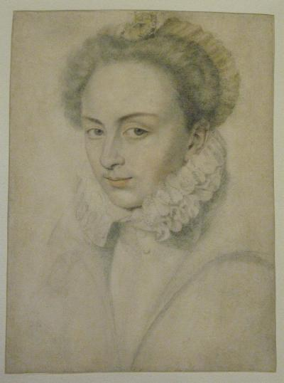 Daniel Dumonstier A Portrait of a Young Woman in a Ruffled Collar