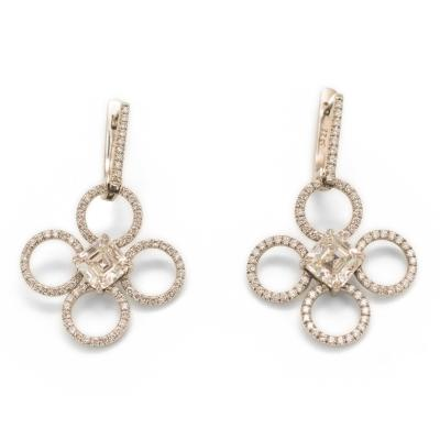 Daniel K diamond drop earrings