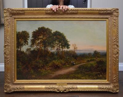 Daniel Sherrin Kings Woods Kent 19th Century English Landscape Oil Painting