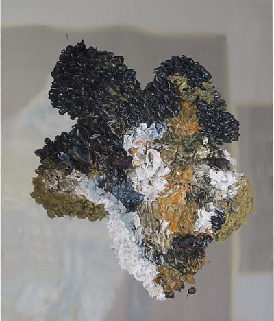 Daniela Busarello IL XV Oil and Wax on Zinc