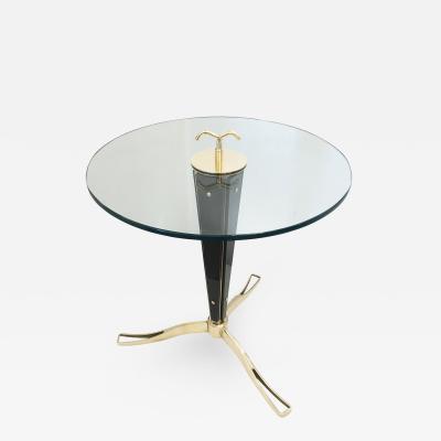 Daniele Bottacin Nero Glass Side Table by Daniele Bottacin for Gaspare Asaro