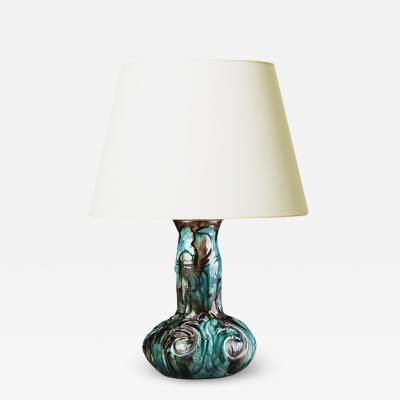 Danish Art Nouveau Table Lamp