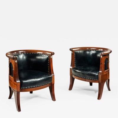 Danish Art nouveau arm chairs