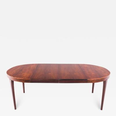Danish Extendable Round Dining Table in Rosewood