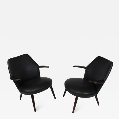 Danish Horn Lounge Chairs