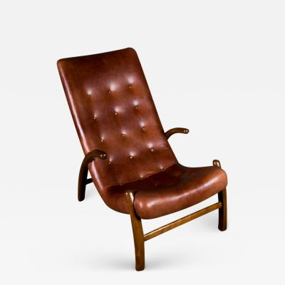 Danish Leather Upholstered Lounge Chair