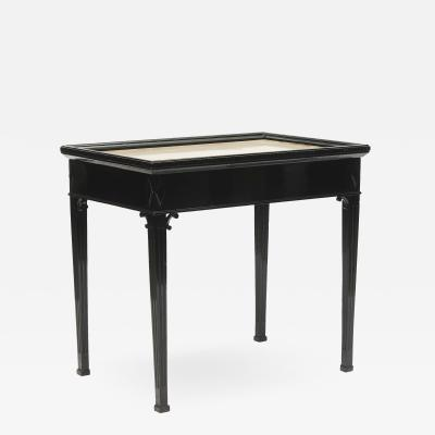 Danish Louis XVI Style Tray table with Brass Top