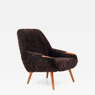 Danish Lounge Chair in Sheepskin