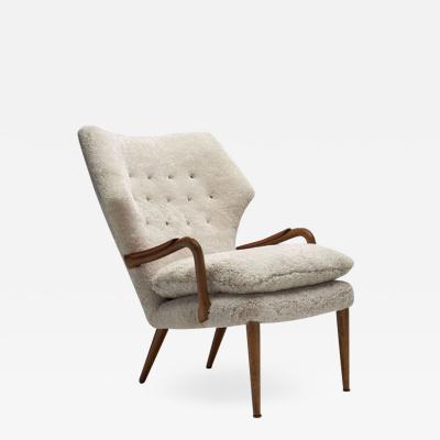 Danish Mid Century Oak and Teak Easy Chair Denmark 1950s