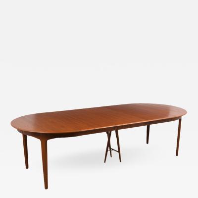 Danish Modern Kjaernulf for Soro Stolefabrik dining table