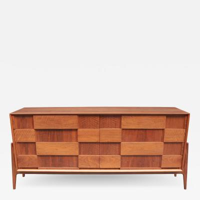 Danish Modern Long Chest of Drawers