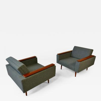 Danish Modern Sleek Low Lounge Chairs