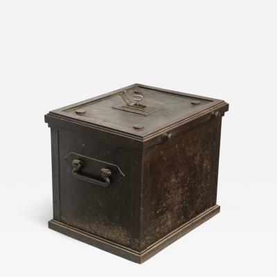 Danish Painted Steel safe with Hidden Lock 19th Century