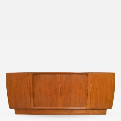 Danish Sideboard with Central Tambour Doors