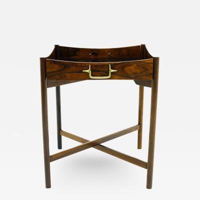 Danish Tray Table with Bras Details 1960s