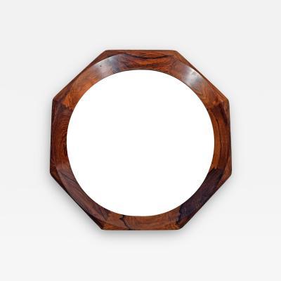 Danish design Octagonal rosewood mirror 1960s