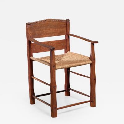 Danish folk art chair from 1842