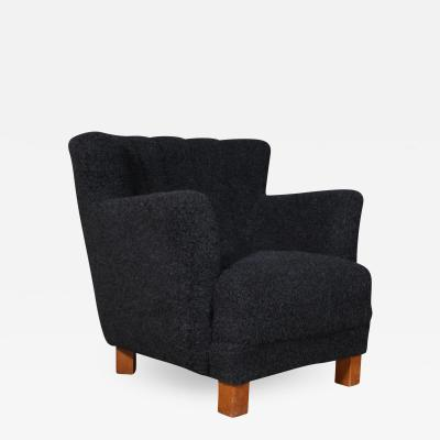 Danish furniture manufacturer Armchair with lambswool