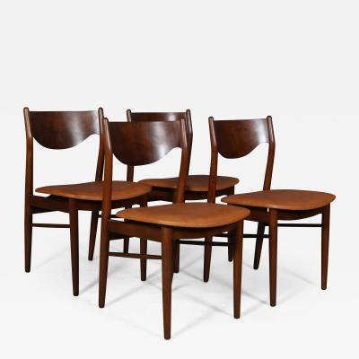 Danish furniture manufacturer Beech and nut dining table chairs 4