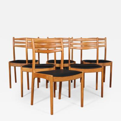 Danish furniture manufacturer Dining table chairs made of oak 6