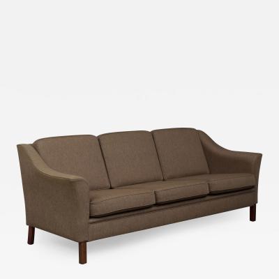 Danish mid century sofa in wool upholstery