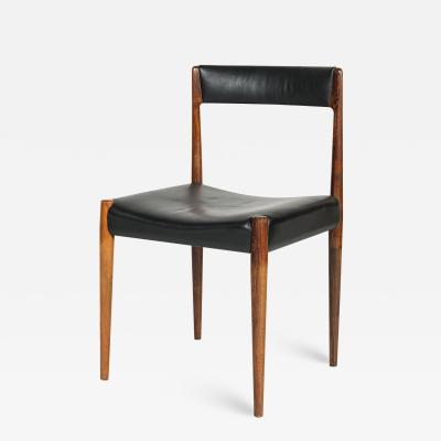 Danish rosewood chair 60s with black leather