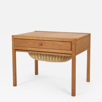 Danish sewing table oak 60s