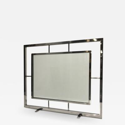 Danny Alessandro Danny Alessandro Chrome and Glass Fire Screen