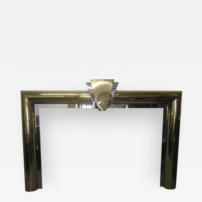 Danny Alessandro Fireplace Surround in Brass and Chrome by Danny Alessandro