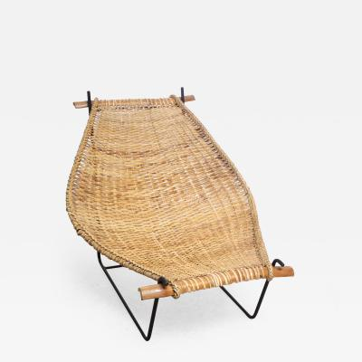 Danny Ho Fong Rattan and Iron Sling Chair by Danny Ho Fong for Tropi cal