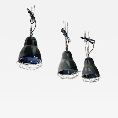 Dark gray industrial chandeliers 1960s