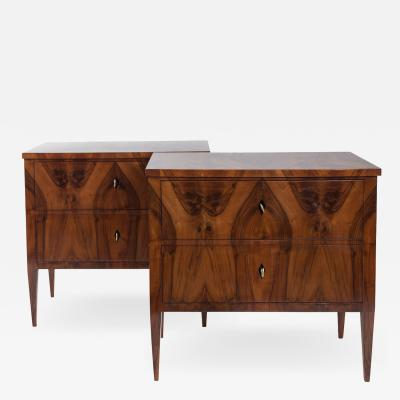 Darker Pair Of Biedermeier Chest Of Drawers
