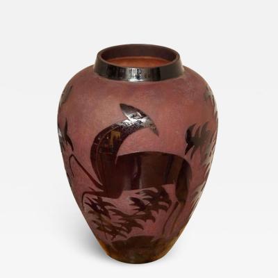 Daum Nancy Art Deco Daum Nancy Large Decorative Vase