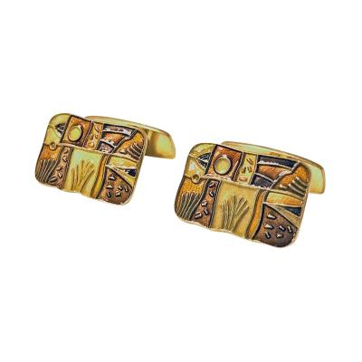 David Andersen Cufflinks Enamel Sterling Fall series