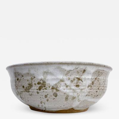 David Cressey By LEON Handmade Glazed Ceramic Pottery Art Bowl signed Art 1980 California