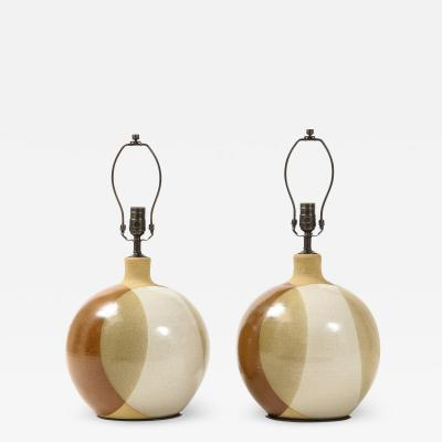 David Cressy David Cressy Style Stoneware Lamps