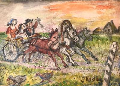 David Davidovich Burliuk Wild Carriage Ride