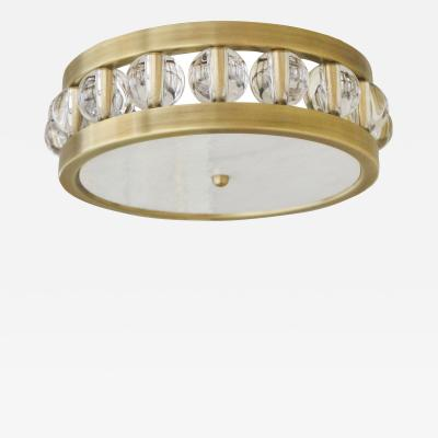 David Duncan 14 Tambour Flush Mount by David Duncan in Brass