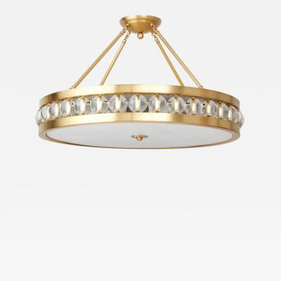 David Duncan 30 Tambour Pendant Fixture with Rods by David Duncan