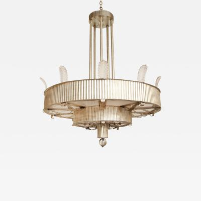 David Duncan A Large Scale Two Tiered Eltham Pendant Fixture