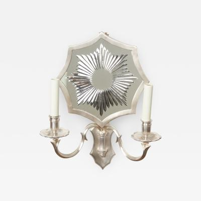 David Duncan Mirrored Sunburst Sconces by David Duncan