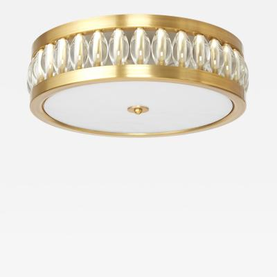 David Duncan Tambour Flush Mount with Oval Beads by David Duncan