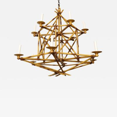 David Duncan The Bambou Br l Chandelier