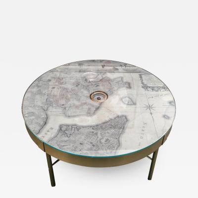 David Duncan The Map of New York Coffee Table by David Duncan