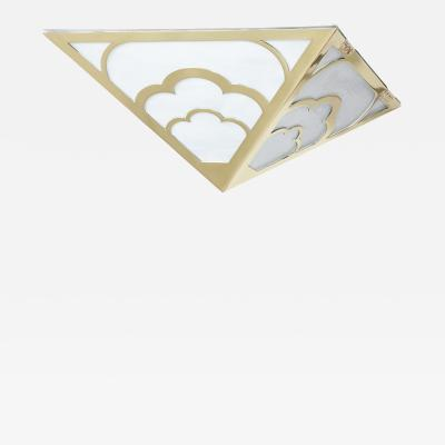 David Duncan The Nuages Deco Flush Mount in Brass by David Duncan